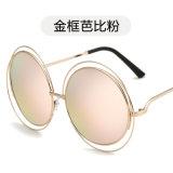 óculos de sol redondos do metal da lente do oceano do vintage do desenhador de moda