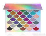 Buena calidad de Cleof cosméticos 32 colores de Prisma de sirena Glitter Eyeshadow Palette