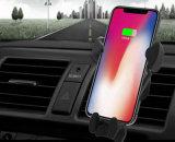 Cargo del Banco de potencia de carga inalámbrica Qi Chargerholder coche para el teléfono celular
