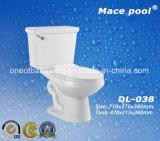 Wc a due pezzi delle tolette di Siphonic degli articoli sanitari di ceramica (DL-002)