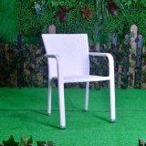 テラスの屋外の金属のホームホテルのオフィスのレストランのアルミニウム平らな柳細工の食事の椅子(J5491)
