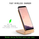Carga sin hilos rápida del grano de madera para Samsung Note8 S8