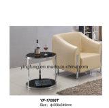 Tabella moderna Yf-T17085 di vetro Tempered del caffè della mobilia dell'hotel