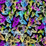 Film d'impression hydrographique papillons colorés no I599ya713B Aqua Film d'impression
