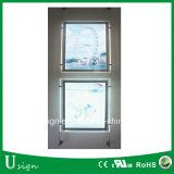 Rectángulo ligero colgante de acrílico cristalino del paisaje LED para la visualización de la ventana de la agencia de las propiedades inmobiliarias