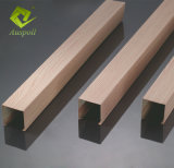 Hölzerne Profil-Quadrat-Decken-Leitblech-Aluminiumdecke verschobene Gefäß-Decke