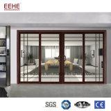 Puertas y ventana de cristal de aluminio de entrada del restaurante