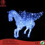 Luz impermeable del adorno de la decoración de la Navidad de Papá Noel de la Navidad de acrílico del LED 3D 220V