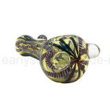 Cucchiaio esaltante di fumo di vetro colorato di fumo della mano del tabacco (ES-HP-357)