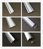 Perfil de aluminio LED Empotrables en yeso Escayola para Drywall (anodizado plata) de iluminación LED para interiores