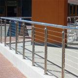 Pasamano de la cubierta del cable del acero inoxidable, montado en el pasamano de la escalera del suelo