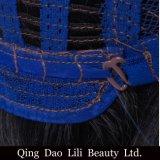 Densidade reta do azul 130% do 1b da cor de Ombre do cabelo humano da peruca cheia do laço