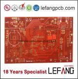 Solda Vermelho multicamada placa PCB de ouro de imersão de Controle Industrial