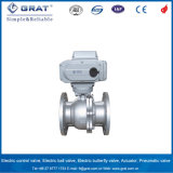 API6d Forged A105 F304 2PC S Floating Ball Valve Mounted Electric Actuator