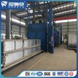 Kundenspezifisches Puder, das blaue Farben-Aluminiumstrangpresßling für Aufbau beschichtet