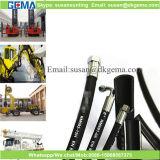 Manguito hidráulico de goma flexible de alta presión de la alta calidad con el manguito de la trenza del alambre de acero
