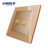 Livolo 2 Gruppe-Wand-Telefon und Computer-Kontaktbuchse-Anschluss Vl-W292tc-11/12/13