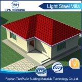 Estructura de acero de revestimiento de madera casa prefabricada Bungalow