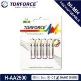batterie inférieure rechargeable de la Chine Fatory d'hydrure en métal de nickel de la décharge spontanée 1.2V (HR03-AAA 1100mAh)