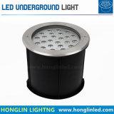 Im Freien Tiefbau-LED Beleuchtung der Landschaftsbeleuchtung-IP67 18W RGB