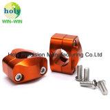 Colorida bloque para manillar de aluminio anodizado de mecanizado CNC de piezas de motocicleta