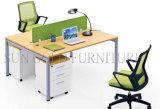 La melamina, madera de la estación de trabajo de oficina Cluster 2 Desk el acero de la pierna (SZ-WST619)