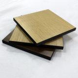 Partes superiores de tabela de madeira laminadas