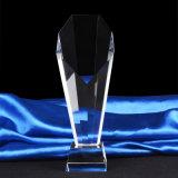 Concesión al por mayor barata del trofeo del pilar del vidrio cristalino