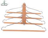 Colgante de madera multifuncional para pantalón/colgador de toallas con gancho de Matel