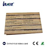 2.4 Zoll-Visitenkarte mit TFT LCD Video-Bildschirm