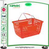 Magasin de détail panier de magasinage en plastique de couleur personnalisée