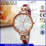 주문 로고 우연한 석영 시계 숙녀 형식 손목 시계 (WY-068D)