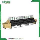 Супермаркет храните дисплей металлическая подставка для фруктов и овощей из дерева для установки в стойку и круиз на гондоле полки для продажи