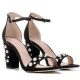 Роскошные дамы Pearl обувь карандашом женщины платье высокие каблуки PU обувь