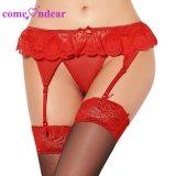 En Stock Manufacturering mujeres gordas de encaje rojo sexy moda Plus Size liga