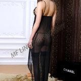 Roupa interior bordada de Panty do estilo vestido longo europeu