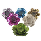 Suporte de vela cerâmico da forma colorida da flor (decorativos Home)