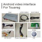 Cadre androïde de système de navigation de GPS pour la surface adjacente de vidéo de Volkswagen Touareg RCD550