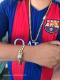 Nuova catena a maglia cubana riempita pesante di Miami dell'oro italiano 18K