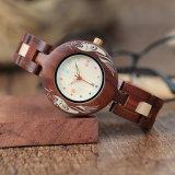 Relojes de calidad superior de madera, reloj del cuarzo