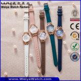 Orologio casuale delle signore del quarzo della cinghia di cuoio di modo (Wy-121D)