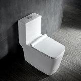 Lp1011 Dual Flush Siphonic montado en el piso de cerámica de una pieza Cuenco de cuarto de baño WC