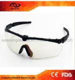 Taktische Plastikmilitärgroßhandelsschutzbrille-Antikratzer-Schuss-Gläser