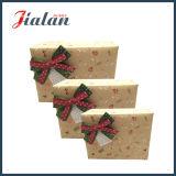 Logotipo rosado precioso imprimió la pajarita Caja de caramelo de papel barato de encargo