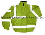 Uja013poliéster Oxford PVC/PU Non-Breathable/PU respiráveis cubra pano reflexivo Parka Casaco Worksuit Raincoat