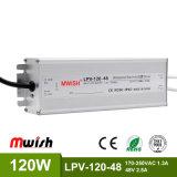 DC48V 120W Wechselstrom wasserdichten LED Aluminiumfahrer zum Gleichstrom-SMPS IP67