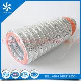 Conducto del aislante de la fibra de vidrio con capa externa del conducto flexible de aluminio