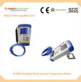 プローブKのタイプ(AT4808)が付いている温度データ自動記録器