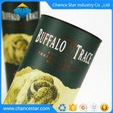 Custom декоративной бумаги вино подарок раунда картон трубы