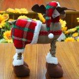 Jouet 2017 de décoration de Noël bourré par père noël de peluche